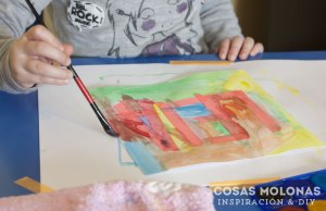 acuarelas-pintar-cuadro-manualidades-niños