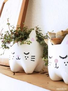 artesanato-garrafa-pet-gato-vaso